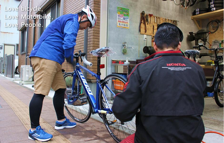 横須賀市追浜の自転車屋さん、亀井輪業